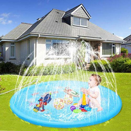 Outdoor Party Sprinkler Pad&Splash Play Mat Toddler Water To