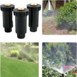 Lawn Pop up Sprinklers Plastic 90-360 Degree Garden Spray No