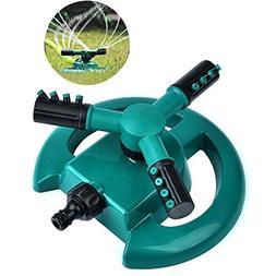 Lawn Sprinkler, SUEKQ Automatic 360° Rotation Garden Water