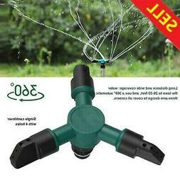 Lawn Sprinkler Automatic Rotating Garden Water Sprinkler Spi