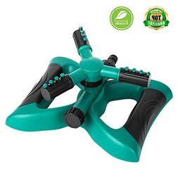 NEX Lawn Sprinkler, Automatic 360 Rotating Adjustable Garden