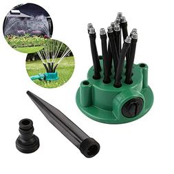 KOBWA Lawn Sprinkler, 360 Direction Adjustable Garden and La