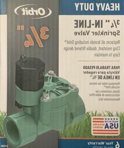 "Orbit In-Line Sprinkler Valve 24 V 3/4 "" Boxed Pack 1"