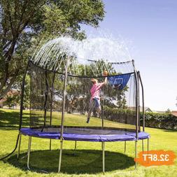 NEW 32.8FT Trampoline Waterpark Sprinkler Outdoor Kids Water