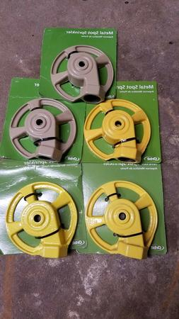 New orbit cast iron spot sprinklers lot of 5 assorted colors