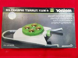 new vintage 4 way turret sprinkler green
