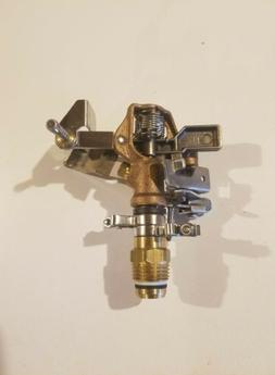 Nos Western Brass Works Brass Impact Sprinkler Adjustable Fu