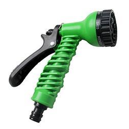 Spray Nozzle Gardening 7-Pattern Revolver Green Watering Mul
