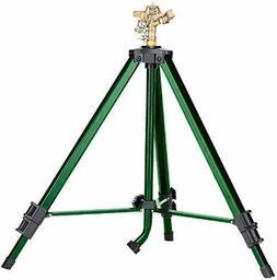 Orbit Heavy Duty Brass Lawn Impact Sprinkler on Tripod Base,