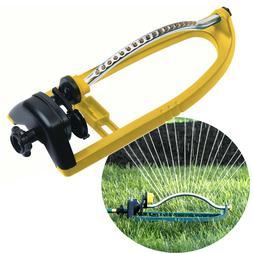 Oscillating Lawn Sprinkler 18 Nozzles Water Hose Irrigation