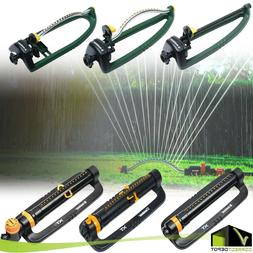 Oscillating Lawn Sprinkler Adjustable Water Range Yard Water