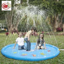 """Outdoor Party Sprinkler Pad & Splash Play Mat 68"""" Toddler Wa"""