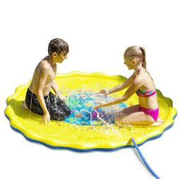"Outdoor Party Sprinkler Pad Water Play Mat 67"" Toddler Water"