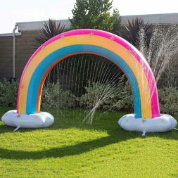 Outdoor Play For Kids Rainbow Water Sprinkler Inflatable Sum