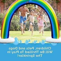 Outdoor Rainbow Sprinkler Super Toddler Water Toys for Child