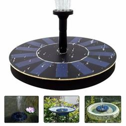 Outdoor Solar Powered Bird Bath Water Fountain Pump for Pool