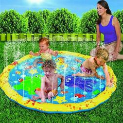 Outdoor Summer Water Play Mat Sprinkler Kids Toy Activity To