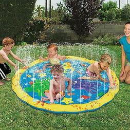 Outdoor Water Play Mat Sprinkler Kids Toy Activity Toddlers