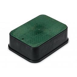 """Rainbird Jumbo Valve Box with Lid, Black, 6"""""""