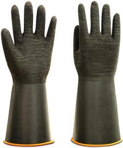 Rubber Gloves Heavy Duty Versatile Latex Chemical Resistant