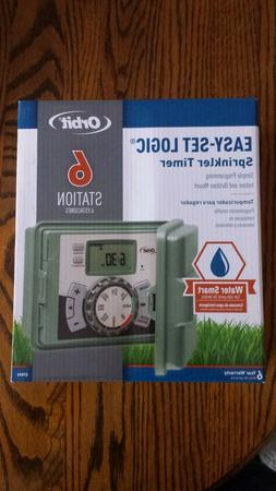 ORBIT SIX STATION SPRINKLER TIMER  57896  BRAND NEW IN THE B