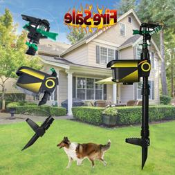 Solar Powered Motion Activated Water Animal Dog Cat Repeller