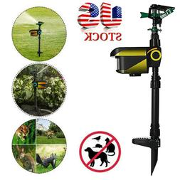 solar scarecrow motion activated water animal repellent