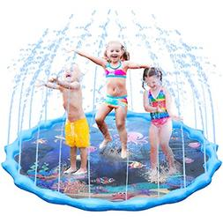 Fixget Splash Pad, Newest Water Play Sprinkler for Kids, Inf