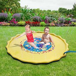 DAPRIL Splash Play Mat, 68in-Diameter Perfect Inflatable Out