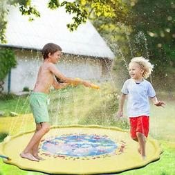 Splash Water Pad Sprinkler Mat Play Toys Summer Party Outdoo