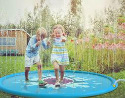 "Sprinkle & Splash Play Mat 68"" Sprinkler for Kids Outdoor Wa"