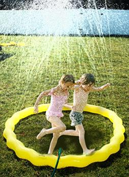 "Splashin'kids 68"" Sprinkle and Spray Play Ring Toy Splash fo"