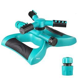 lawn Sprinkler, Automatic 360 Rotating Walking Sprinkler Hea