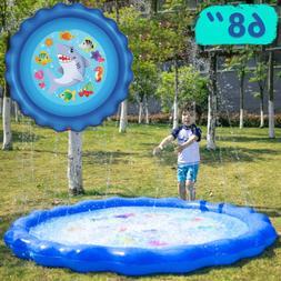 "Sprinkler & Splash Play Mat 68"" Outdoor Water Toys for Kid"
