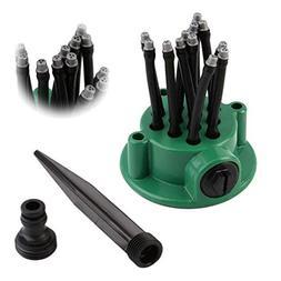 Weite Sprinkler with 12 Spray Nozzles, Adjustable Green Gard