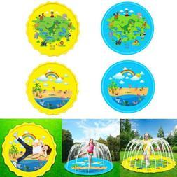 """Sprinkler Pad & Splash Play Mat 67"""" Toddler Water Toys Fun F"""
