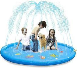 """Sprinkler Pad & Splash Play Mat 68"""" Toddler Water Toy Fun Ki"""