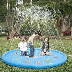 """Sprinkler Pad """" Splash Play Mat 68"""" Toddler Water Toys Fun F"""