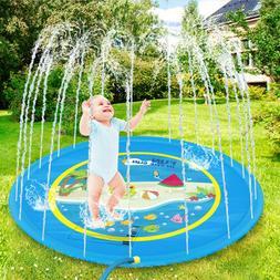 Sprinkler Splash Mat for Kids Aquatic Water Pad Wading Pool