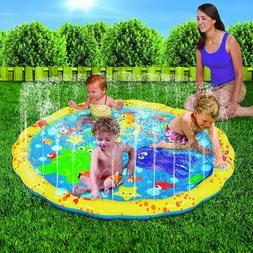 Kids Splash Play Mat Water Toy Baby Pool Wading Sprinkler Ou