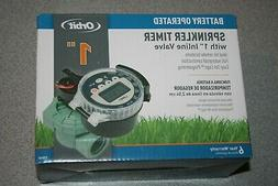"Orbit Sprinkler Timer Battery Operated with 1"" Inline Valve"