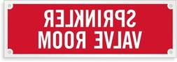 "Sprinkler Valve Room, Reflective Fire Sprinkler Sign, 6"" x 2"