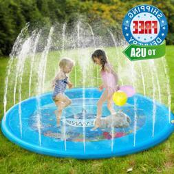 "Dillitop Sprinklers for Kids, Splash Play Mat 68"" Inflatable"