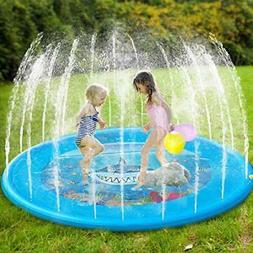 "Dillitop Sprinklers for Kids, Splash Play Mat 68"" Inflatable"
