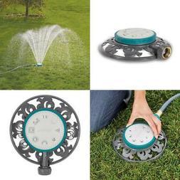 Stationary Sprinkler 1,225 Sq. Ft. 8-Pattern Durable Lawn Ga
