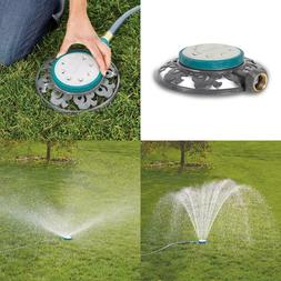 Stationary Sprinkler 1,225 sq. ft. 8-Pattern Durable Lawn Ga