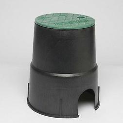 "Storm Drain FSD-60 6"" Round Sprinkler Valve Box w/lid"