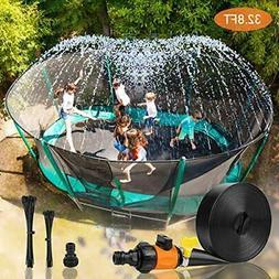 Trampoline Water Play Sprinklers for Kids, Boys Girls Fun Su