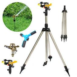 Tripod Lawn Sprinkler Rotatable Telescopic Watering Grass Ya
