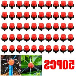 * US 50Pcs Adjustable Micro Plants Irrigation Watering Emitt